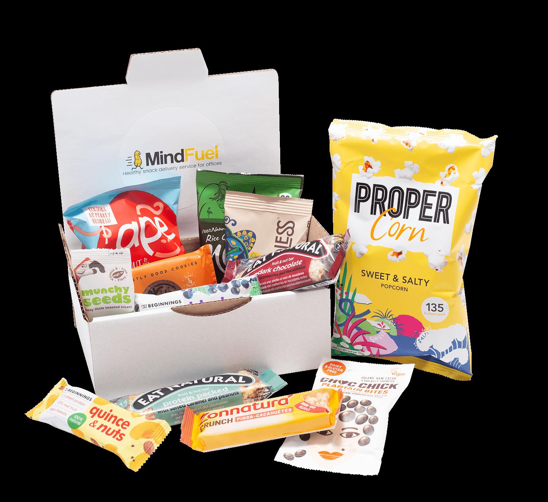 Mindfuel doos met gezonde snacks